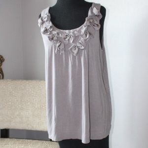 Lane Bryant Gray Tank with bows Size 14/16